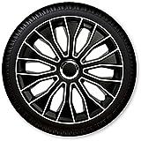 15 Zoll Radzierblenden / Radkappen Voltec pro Black white 15