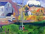 Posterlounge Alu Dibond 40 x 30 cm: Bretagne-Landschaft: die David-Mühle von Paul Gauguin/Bridgeman Images