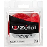 """Zefal Soft PVC Blíster 2 Cintas Llantas, Unisex, Rojo, 26""""-22 mm"""