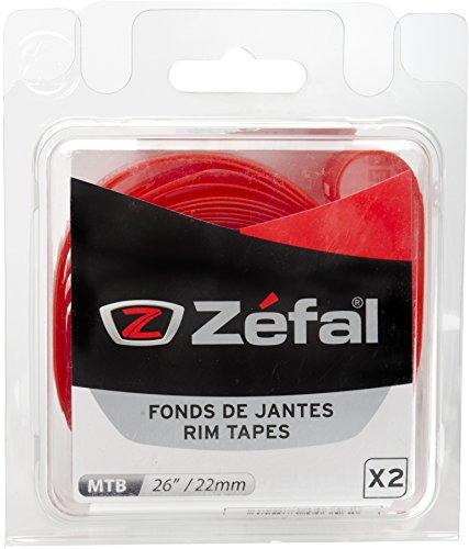 ZEFAL Soft PVC Blíster 2 Cintas Llantas, Unisex, Rojo, 26-22 mm