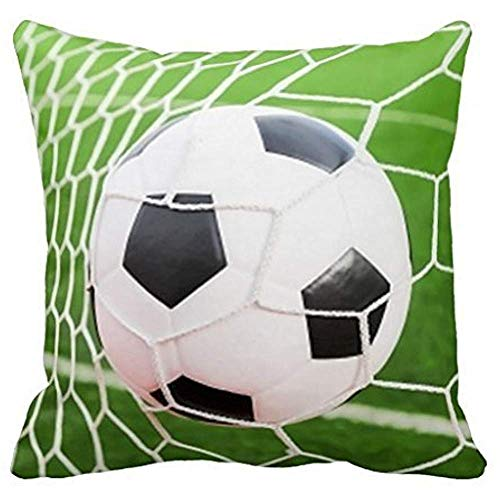 Dana34Malory Funda de Almohada de balón de fútbol 16 x 16 Pulgadas para sofá, Decorativa, Cuadrada...