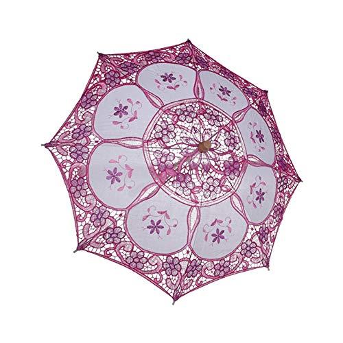 Kostüm P Party Fotos - Kleine Dekorative Regenschirme Mit Holzgriff Sonnenschirm Sonnenschirme Party Kostüm Zubehör Cosplay Requisiten Für Für Frauen Mädchen Hochzeit Foto-schießen Dekoration