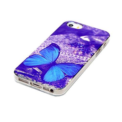 iPhone Case Cover Pour iPhone 5 & 5s & SE IMD Dreamy Dreamcatcher motif Blu-ray Soft TPU cas de protection ( SKU : IP5G5000D ) IP5G5000E