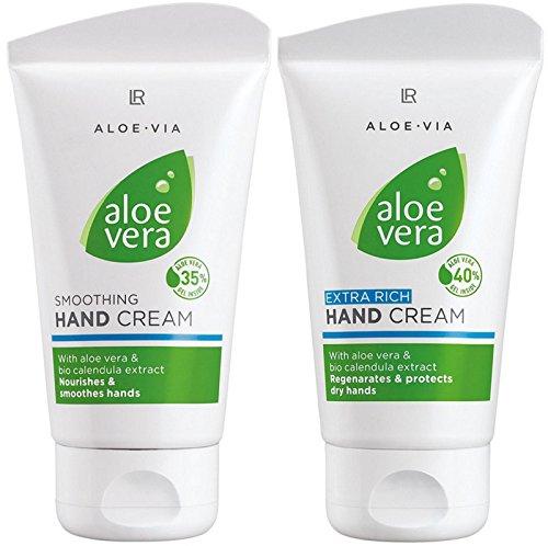 LR ALOE VIA Aloe Vera Handcreme Set (75 ml Sanfte Handcreme & 75 ml Reichhaltige Handcreme)