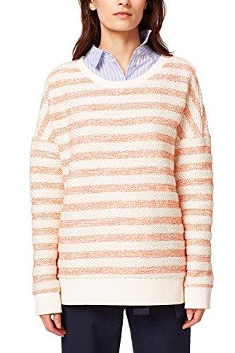 edc by ESPRIT Damen Sweatshirt 038CC1J015, Weiß (Off White 2 111), Medium
