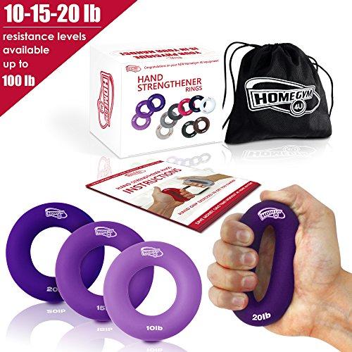 ker Grip Ringe – sehr bequem zu verwenden – Schnell erhöhen Hand Finger Handgelenk Vorderarmmuskulatur für Athleten Klettern Musiker Stress Relief & Verletzungen Rehabilitation (10-15-20 LB) (Großhandel Wasser-pistolen)