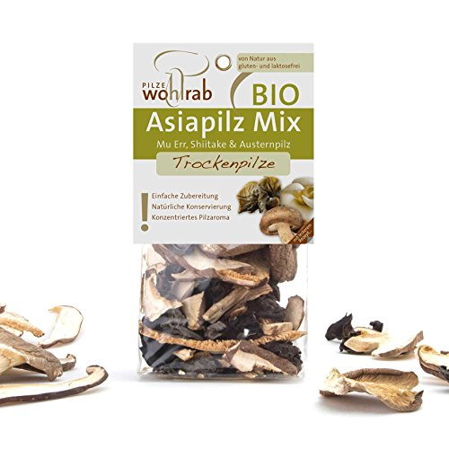Bio Asia Pilz-Mischung asiatische Pilze Mix getrocknet (Shiitake, Austernpilz, Mu Err – Chinesische Morchel) 30 g