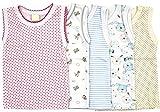 5er Set Unterhemd für Mädchen und Junge Bunt Größe 80-116 (86, Set für Mädchen)
