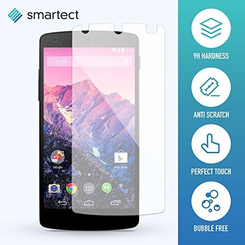 1x Protector de Pantalla de Cristal Templado para LG Google Nexus 5 de smartect® | Lámina Protectora Ultrafina de 0,3mm | Vidrio Robusto con Dureza 9H y Antihuellas Dactilares