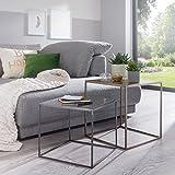 2er Set Satztische in Messing- und Zinkfarben; Ideal als Wohnzimmertisch Oder Nachttisch