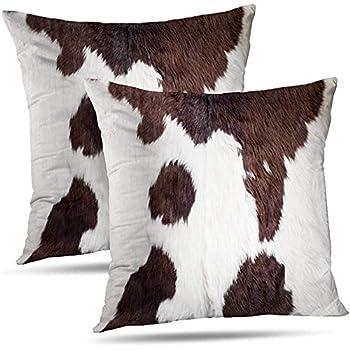 Cuscini Per Divano Bianco Pelle.Fodera Per Cuscino Pelle Di Mucca Astratto Africa Animale Tessuto