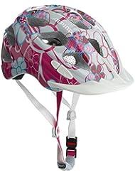 Alpina Unisex - Kinder Fahrradhelm Rocky, pink-lightblue flowers, 52-57, A9629.1.58