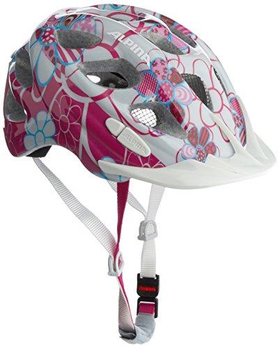 Alpina Unisex - Kinder Fahrradhelm Rocky, pink-lightblue flowers, 47-52, A9629.0.58