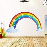 Adesivo da parete arcobaleno - Decalcomanie rimovibili autoadesive, adesivo da parete con glitter impermeabile per la decorazione domestica per la camera dei bambini Regalo per la scuola materna