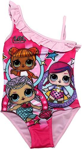 LOL SURPRISE Dolls Mädchen Badeanzug Hell Rosa 3-4 Jahre