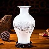 XDHN Kleine Vase Keramik Ornamente Dekorative Ornamente Wohnzimmer Blumen Arrangement, Creek Besucher Fisch Schwanz Flasche
