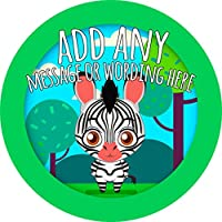 African Zebra Sticker Labels Personalised Custom Seals Ideal for Party Bags Sweet Cones Favours Jars Presentations Gift Boxes Bottles Crafts