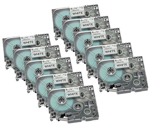 Preisvergleich Produktbild 10x Ti-Sa Basic Rebuilt Schriftbandkassette für Dymo S0720580 45018 für Dymo LabelPoint 350 - schwarz auf gelb - Leistung: 12mm x 7m