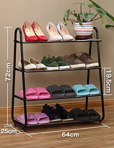 Le Stockage Fort Et Durable De Chaussure Range Le Rang 5 De Stockage Noir De Chaussure Pour 15 Paires De Chaussures 3 Support De Chaussure De Fer De Couleur ( Couleur : Noir , taille : 4 tier )