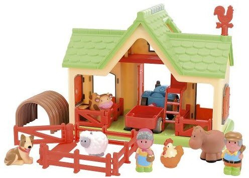 Image of Early Learning Centre HappyLand Goose Feather Farm Playset