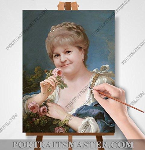 Ihre Portrait in Öl ! Historische oder Stil. Geschenkidee ! (30х40cm/A3) auf Leinwand mit Keilrahmen. -