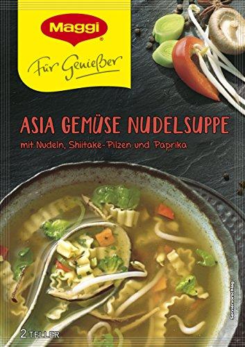 Maggi Für Geniesser Asia Gemüse Nudelsuppe, 12er Pack (12 x 34 g)