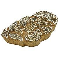 Blumen Indische Holzblock Kunst Hand Geschnitzt Druckblock Textil Stempel