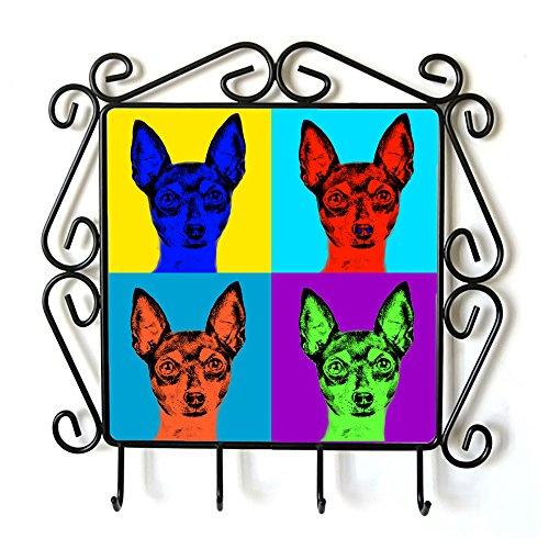 ArtDog Ltd. Toy Fox Terrier, Kleiderbügel mit Einem Bild eines Hundes, Andy Warhol-Art -