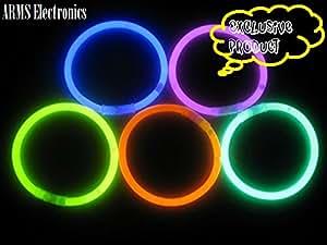 Glow in the dark Radium Glow Sticks Wrist Band (10 pieces)