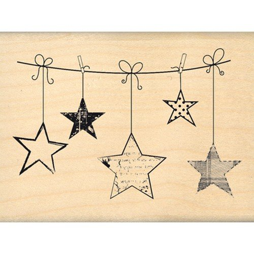 florileges-fe213005-diseno-sello-hanging-stars-scrapbooking-madera-6-x-8-x-25-cm