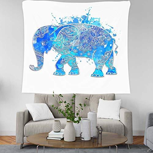 Jiaju arazzo acquerello elefante boemia appeso a muro boho arazzo indiano arazzi floreali mandala wall art camera da letto soggiorno dormitori (colore : tapestry watercolor floral)