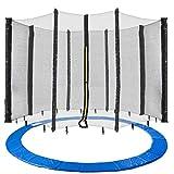 Arebos Coussin de protection pour trampoline + filet / 244, 305, 366, 396, 430, 460 et 490 cm / filet pour 6 ou 8 tiges (366 cm, filet pour 8 tiges)