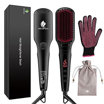 2-in 1 Ionic Hair Straightener Brush MCH Heating Hair Straightening Iron - Read Reviews