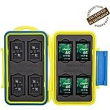 Flashwoife Turtle-SD8MSD16Y jaune boîtier pour carte mémoire (résistant à l'eau) pour - 8 x SDHC et 16 x microSD