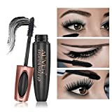 Aliver Black 3D Silk Fiber False Lash Mascara Waterproof Long-Lasting Eyelash Extension Volume
