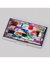 MOP Arabian Letter Design Metal Business Credit Name Wallet ID Card Holder Case