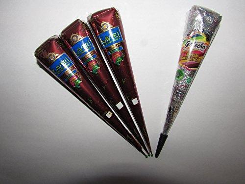 obtenez-set-go-a-sechage-rapide-marron-fonce-couleur-frais-pur-henne-cones-x-3-avec-one-argent-decor