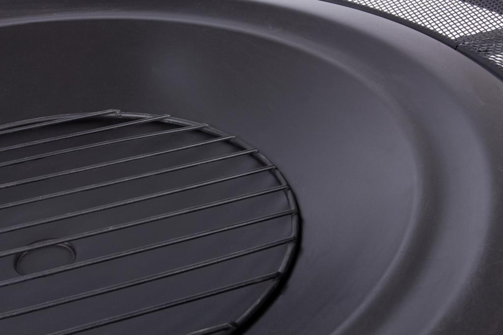 rustler lp 0227a feuerschale terrassenofen aus stahl mit abdeckung funkenflug und sch rhaken rs. Black Bedroom Furniture Sets. Home Design Ideas
