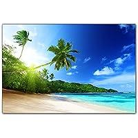 Leinwand-Bilder Wandbild Canvas Kunstdruck 125x50 Palmen Meer Landschaft