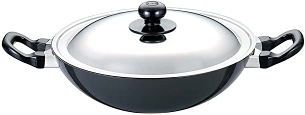 Futura Non-Stick Deep-Fry Pan(Kadhai)  with Steel Lid and Round Bottom