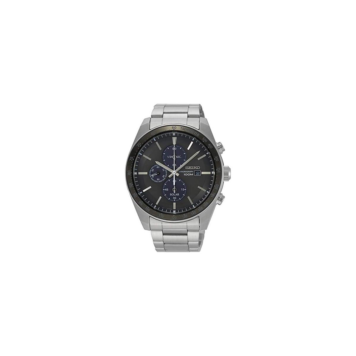 51I6Zii8QpL. SS1200  - Seiko Reloj Cronógrafo para Unisex Adultos de Cuarzo con Correa en Acero Inoxidable SSC715P1