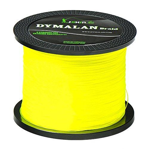 Dymalan filo da pesca trecciato 4 fili 1000m/1094yds 40lb - filo da pesca resistente all'abrasione - zero allungamento - diametro più sottile per la pesca in acqua dolce e in mare