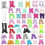 Miunana 50 Paar Schuhe Zubehör Accessories für Barbie Puppen