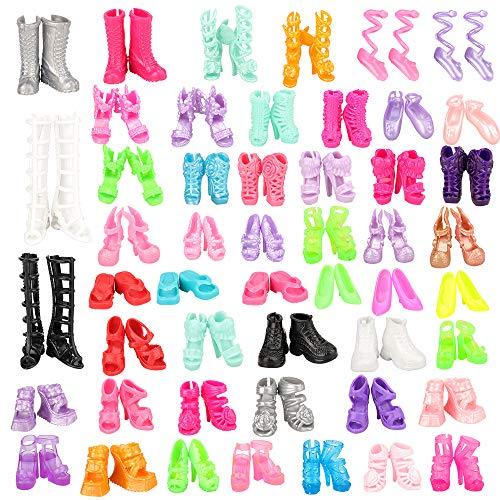 Miunana 50 PCS Scarpe Selezionati A Caso per 11.5 Pollici 28 30 CM Bambola = Scarpe Tacco Alto e Stivali e Scarpe Sportive