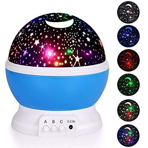 Proyector Spin Starry Night Light Sky Star Niños Niños Bebé Dormir ...