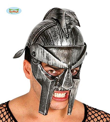 HELM - GLADIATOR - silbergrau, Arena Spartacus Sklaven Cäsar Rom Colloseum (Halloween Spartacus Kostüme)