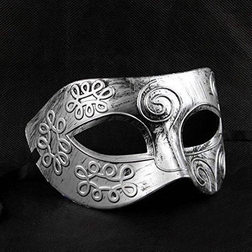 nmaske, venezianische Masken für Kostümball, Maskenball, Halloween, Silberfarben ()