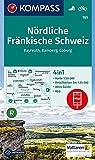 Nördliche Fränkische Schweiz, Bayreuth, Bamberg, Coburg: 4in1 Wanderkarte 1:50000 mit Aktiv Guide und Detailkarten inklusive Karte zur offline .. - (KOMPASS-Wanderkarten, Band 165) -