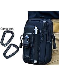 Wynoz negro 1000D Nylon resistente mochila EDC Casual Outdoor Gear llevar bolsa Universal Kit Herramienta riñonera cinturón capacidad para iPhone 6s Plus Samsung Note 5