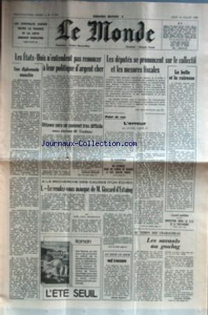 MONDE (LE) [No 11340] du 16/07/1981 - LES CONTRATS...